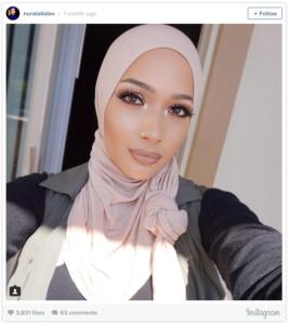 Muslim beauty blogger Nura Afia